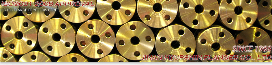 PN10 FLANGE, DIN PN10 FLANGE, TWO WATER LINE, YELLOW PAINT, PN10 FF FLANGE, PN10 RF FLANGE, JINAN HYUPSHIN FLANGES CO., LTD