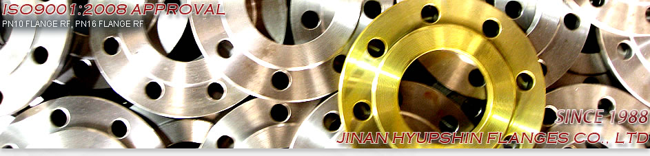 JIS B2220, 10K FLANGE, FF FLANGE, RF FLANGE, SS400, YELLOW PAINT, TWO WATER LINE, BLACK PAINT, JINAN HYUPSHIN FLANGES CO., LTD
