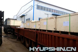 Flanges Plywood box Loading